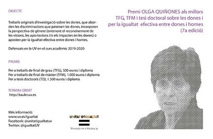 VII Premi A. Olga Quiñones Fernández. UV