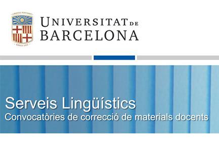 Convocatòria UB correcció materials docents